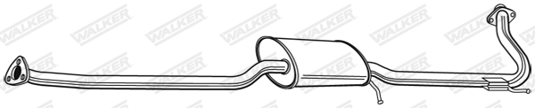 Silencieux central WALKER 22350