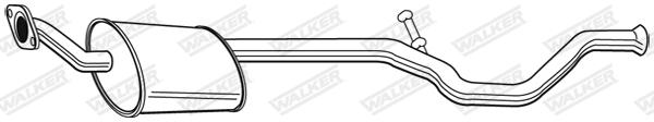 Silencieux central WALKER 22644