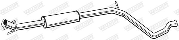 Silencieux central WALKER 22802