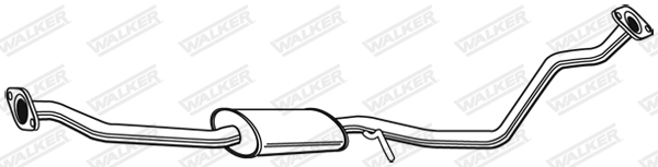 Silencieux central WALKER 23155