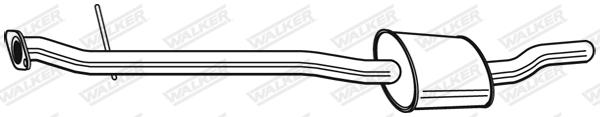 Silencieux central WALKER 23757