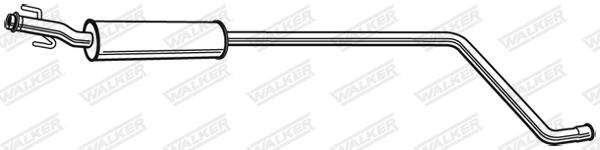 Silencieux central WALKER 24138