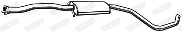 Silencieux central WALKER 71037