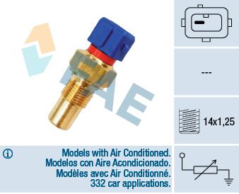 Sonde de température, liquide de refroidissement FAE 32290