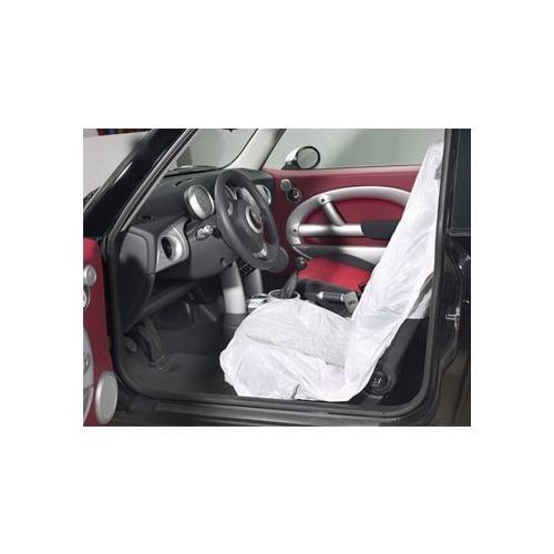 TOPCAR - Rouleau de 250 housses de siège jetables, pour tous véhicules - PLA62