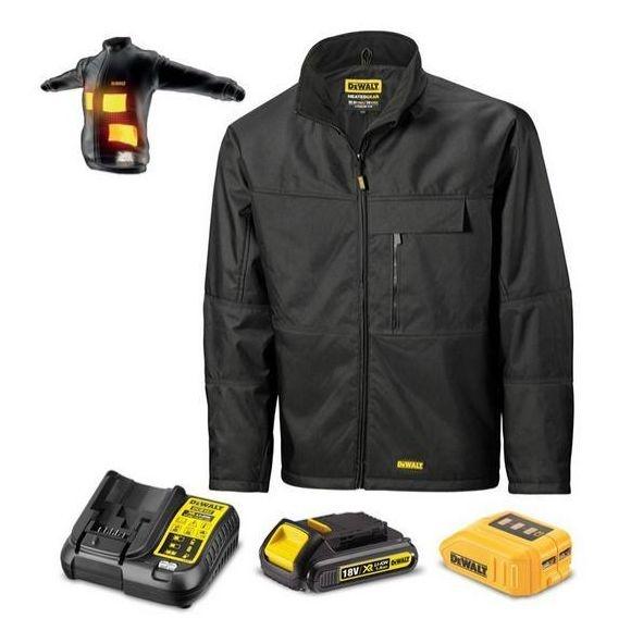 DEWALT - Veste chauffante taille L + Batterie 18 Volts 1,5Ah + Chargeur USB - DCJ069C1L