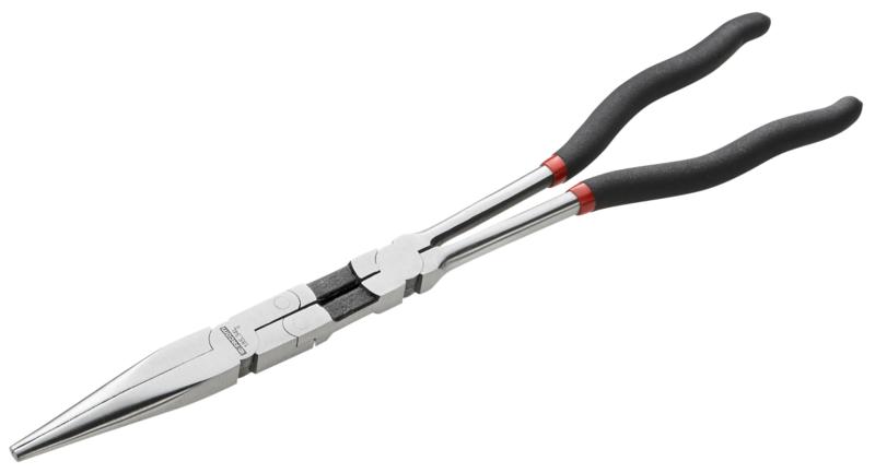FACOM - Pince à bec demi-ronds extra longues à double articulation - 185.34L