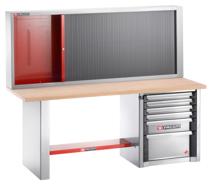 Etabli charges lourdes 2 m - 6 tiroirs et armoire 2210 Facom 2000.AB32M3