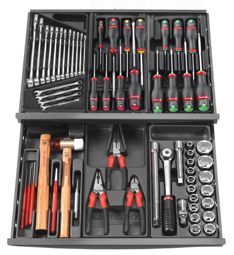 FACOM - Composition de 69 outils pour servante - CM.69PB