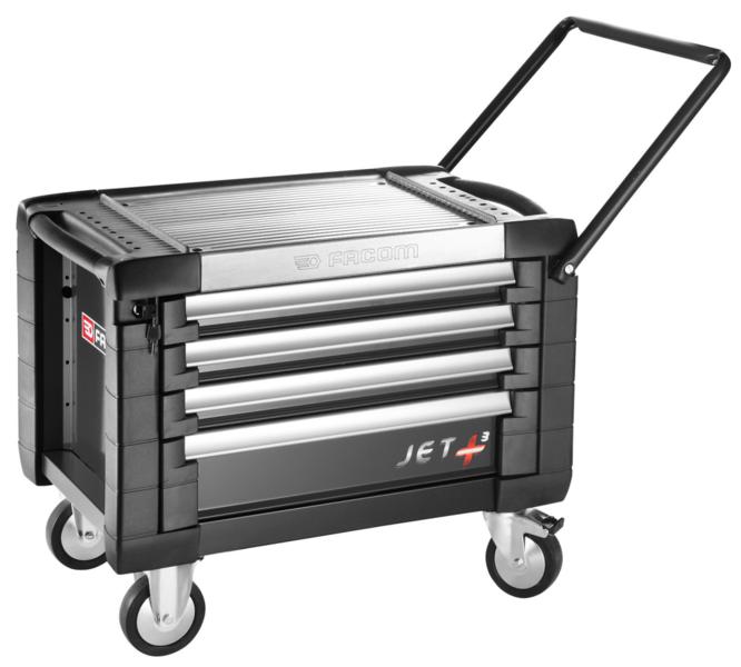 Coffre roulant Noir 4 tiroirs Facom JET.CR4GM3PB