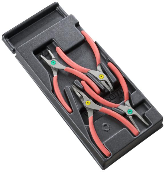FACOM - Modules 4 pinces fermantes / ouvrantes pour Circlips® becs droits et coudés - MOD.PCPB