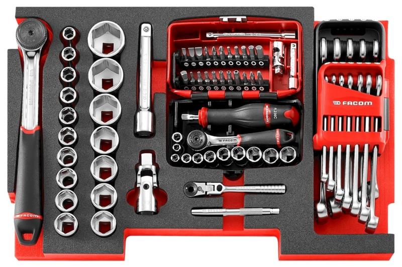 Composition module mousse serrage RS1  pour module de rangement a tiroir Toughsystem  Facom MOTS.RS1