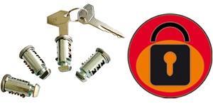 4 serrures avec 2 clés pour barres de toit auto Green Valley Original - 156002