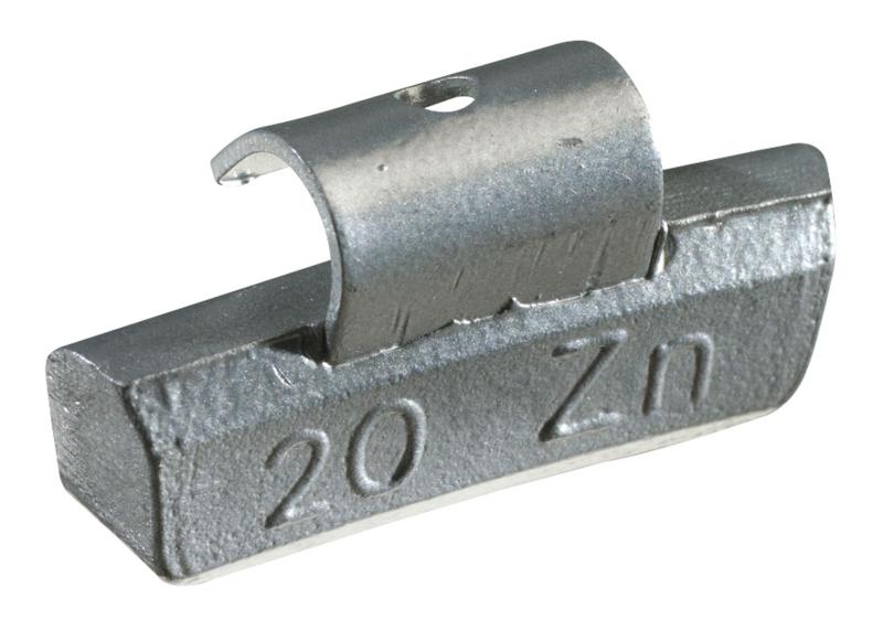 Masses d'équilibrage à crochet pour jantes ALU 10G, boite de 100 pièces KS Tools 1002010