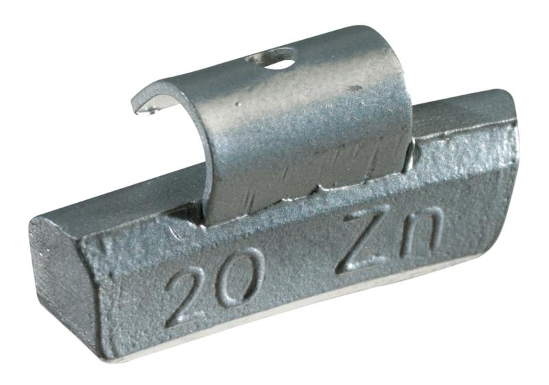 Masses d'équilibrage à crochet pour jantes ALU 20G, boite de 100 pièces KS Tools 1002020