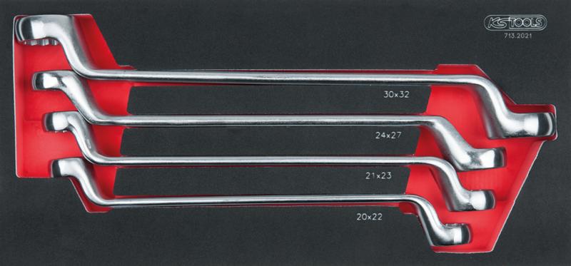 KSTOOLS - Module de clés polygonales contre-coudées 75°, 4 pièces - 713.2021