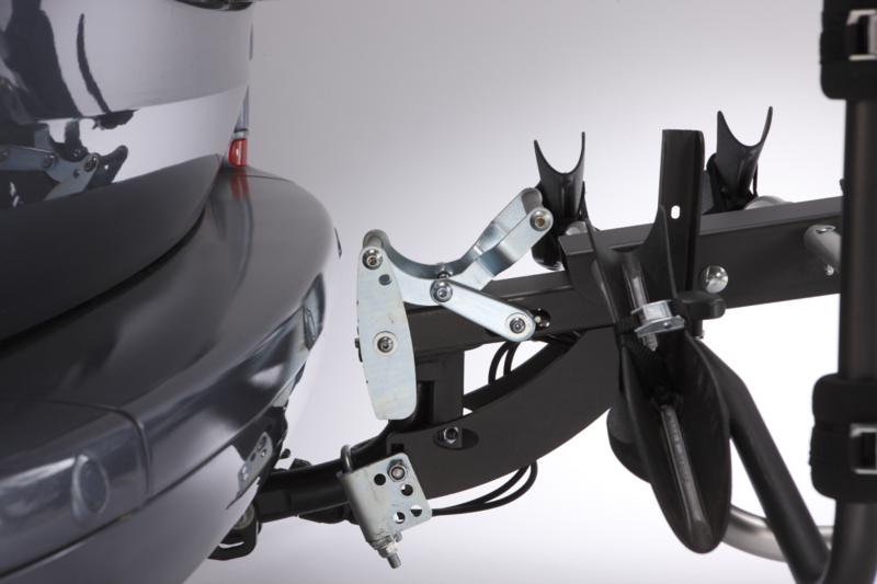 MOTTEZ - Porte-vélo plateforme, basculable sur attelage Premium 4 vélos fixation sur boule d'attelage - A018P4RA