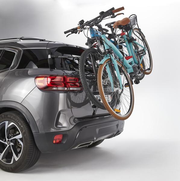 MOTTEZ - Porte-vélos 2 vélos électriques à fixation hayon ou barres de toit ou barres railing - A029P2ELEC