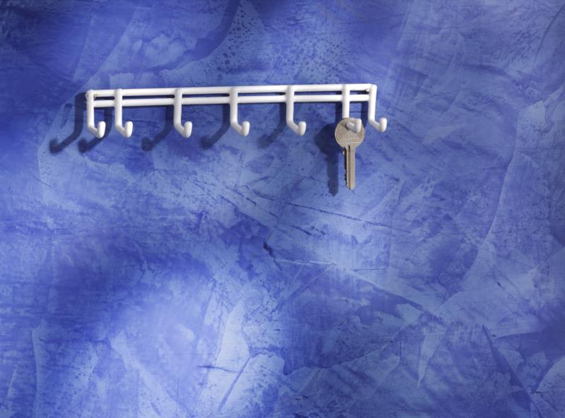 MOTTEZ - Rack 7 mini crochets en fil acier peint - B051Q