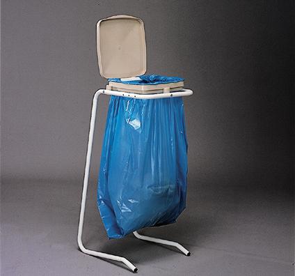 MOTTEZ - Support sac poubelle sur pied + couvercle - B078V