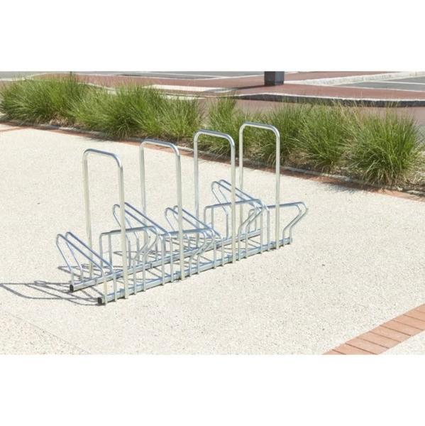 MOTTEZ - Range 6 vélos au sol face à face 113x63x41 cm - B196C