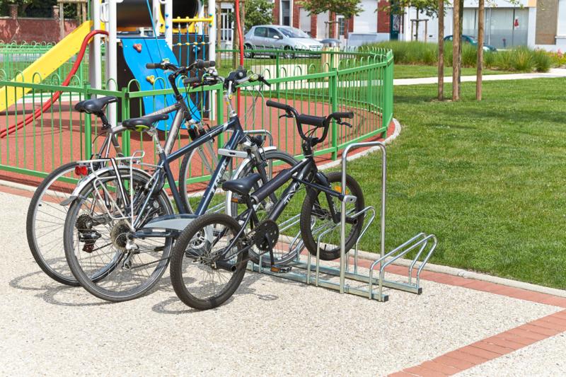 MOTTEZ - Râtelier sur 2 niveaux cote à cote pour 5 vélos - B200AR