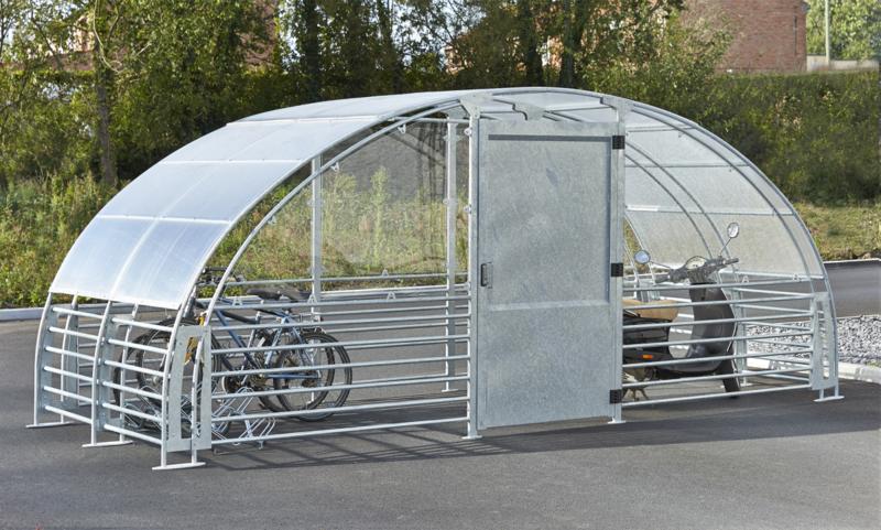 MOTTEZ - Abri 12 vélos fermé - M026V