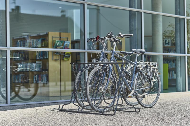 MOTTEZ - Râtelier pliable sans outils pour 6 vélos face à face - M032S