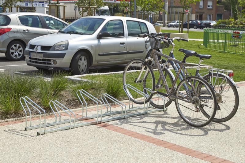 MOTTEZ - Râtelier sur 2 niveaux cote à cote pour 6 vélos - M024V6