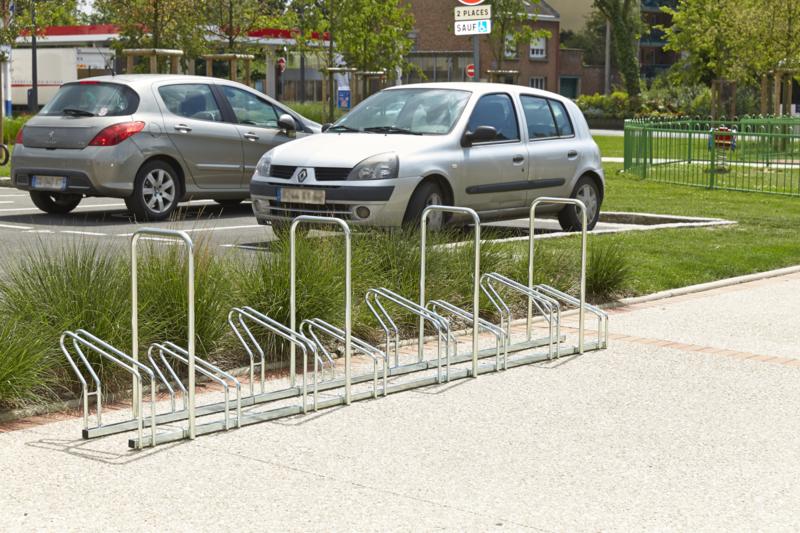 MOTTEZ - Râtelier sur 2 niveaux cote à cote pour 8 vélos - M024V8AR