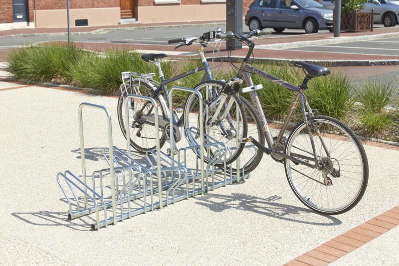 MOTTEZ - Range 6 vélos au sol face à face 113x63x83 cm - B196AR