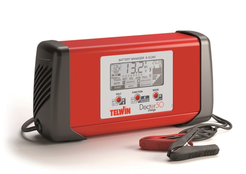 TELWIN - Chargeur, maintenance de charge 6/12/24V 230V Diagnostique, fonction hall expo 230V DOCTOR CHARGE 50 - 807586