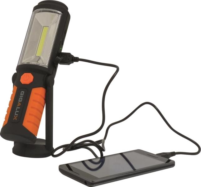 TOPCAR - Baladeuse pivotante rechargeable 1 + 5 LED - 02162