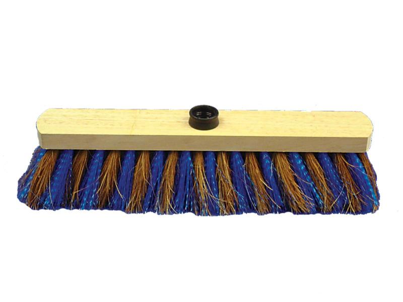 TOPCAR - Balai 38 cm coco zèbre bois douille vis - 022181