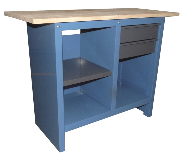 TOPCAR - Établi avec 2 tiroirs et 3 étagères - 09057