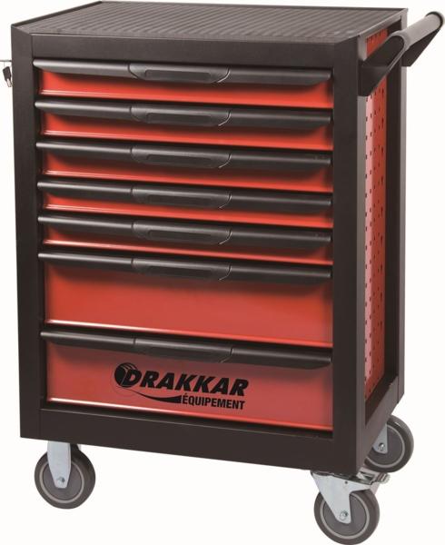 TOPCAR - Servante 7 tiroirs - 198 outils - 25055