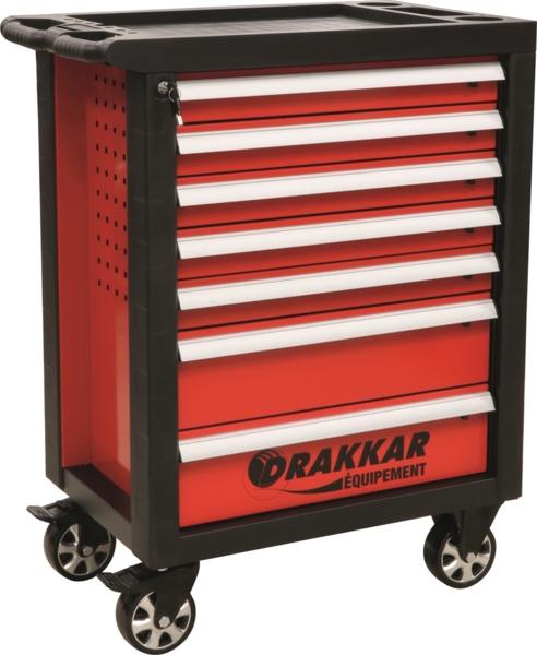 TOPCAR - Servante 7 tiroirs - 205 outils - 25074