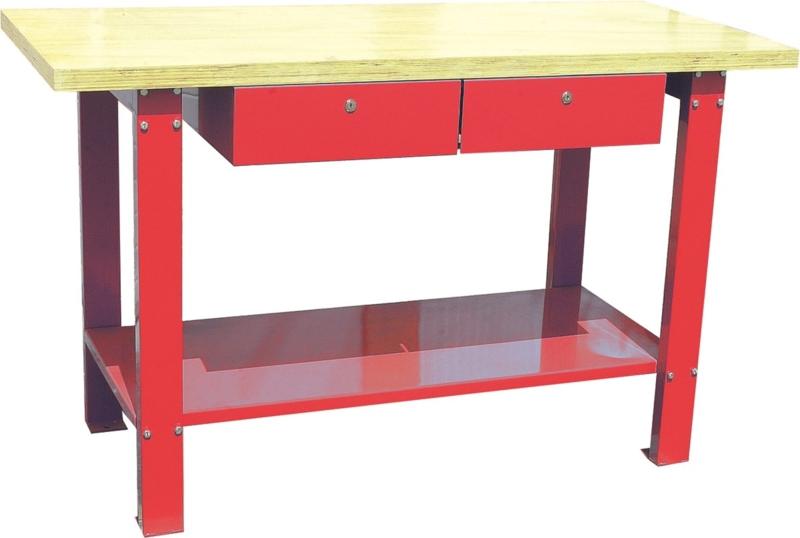 TOPCAR - Établi bois avec 2 tiroirs - 09277