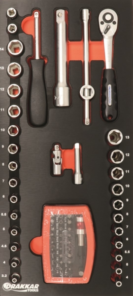 TOPCAR - Servante 7 tiroirs - 198 outils - 25056