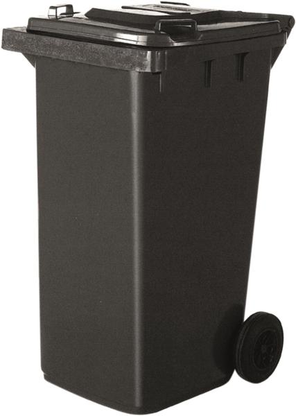 TOPCAR - Poubelle conteneur 120L à roulettes grise - 17743