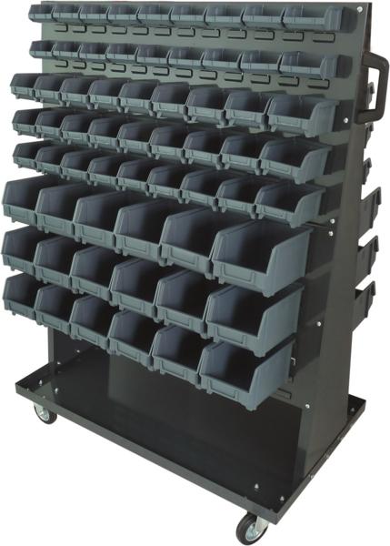 TOPCAR - Étagère sur roulettes avec 126 boites à bec - 17754