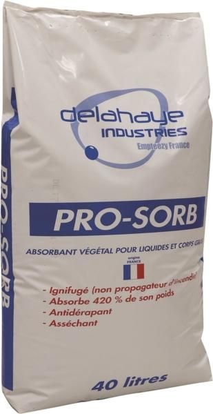 TOPCAR - Absorbant végétal ignifuge industrie 40L - 18570