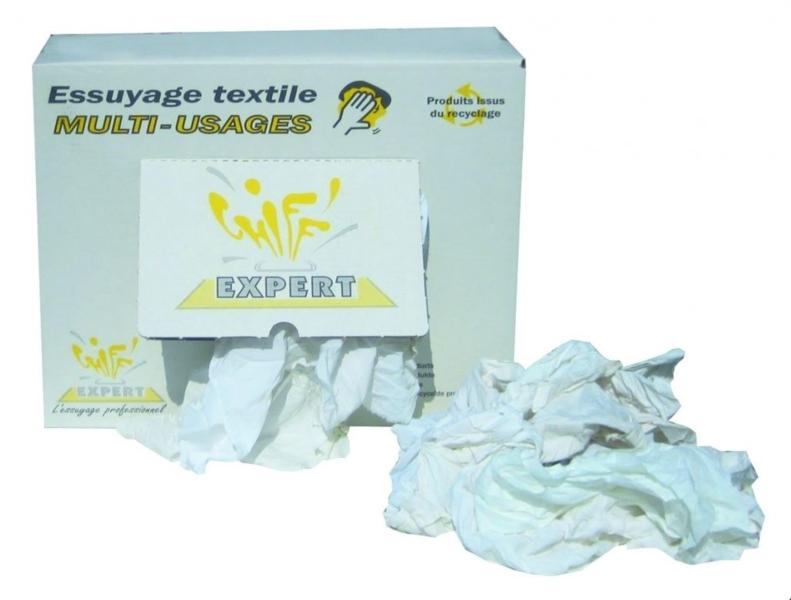 TOPCAR - Carton de 10 kg de chiffons multi-usages blancs - D014 ECX