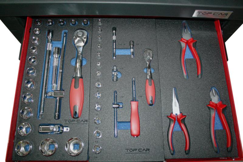Servante Complète 7 tiroirs 383 pièces TOPCAR RACING-R7T3M