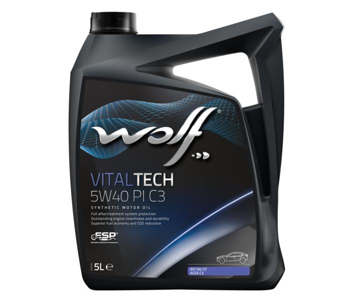 WOLF - Bidon 5 litres d'huile moteur 5W40 - 8303012
