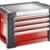 Coffres JET+ 4 tiroirs - 3 modules par tiroir Facom JET.C4M3PB