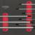 KSTOOLS - Module de clés mâles 6 pans à poignée en T, 8 pièces - 713.5017