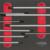KSTOOLS - Module de clés mâles 6 pans à poignée en T, 9 pièces - 713.5018