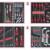 KSTOOLS - Composition d'outils 4 tiroirs pour servante, 173 pièces - 714.0173