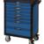 KSTOOLS - Servante PEARL line bleue, 7 tiroirs - 804.0007
